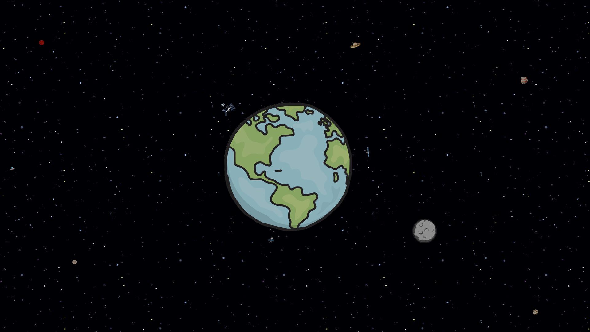 Cartoon Space 1920x1080