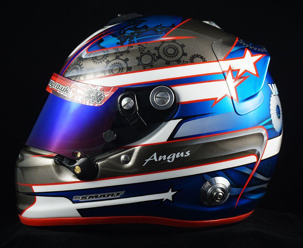 Angus whitesides arai gp6s helmet custom helmets