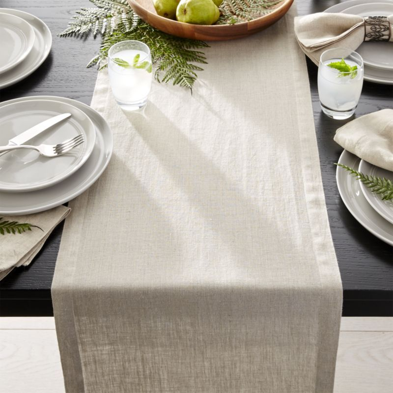 Part Of Our Helena Table Linen Collection, This Dark Natural Table Runner  Is Made Of Lightweight Linen Thatu0027s Been Pre Washed For Extra ...