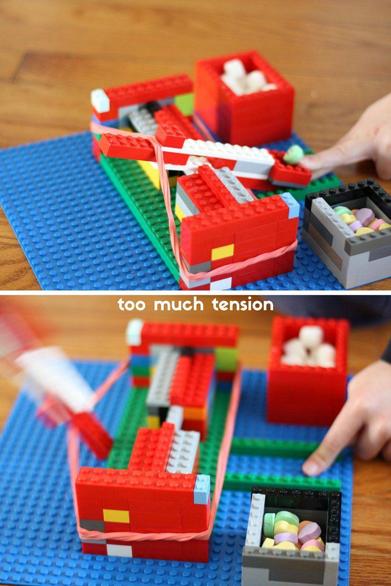 Easy Lego Catapult Physics Experiment And Stem Activity Legos
