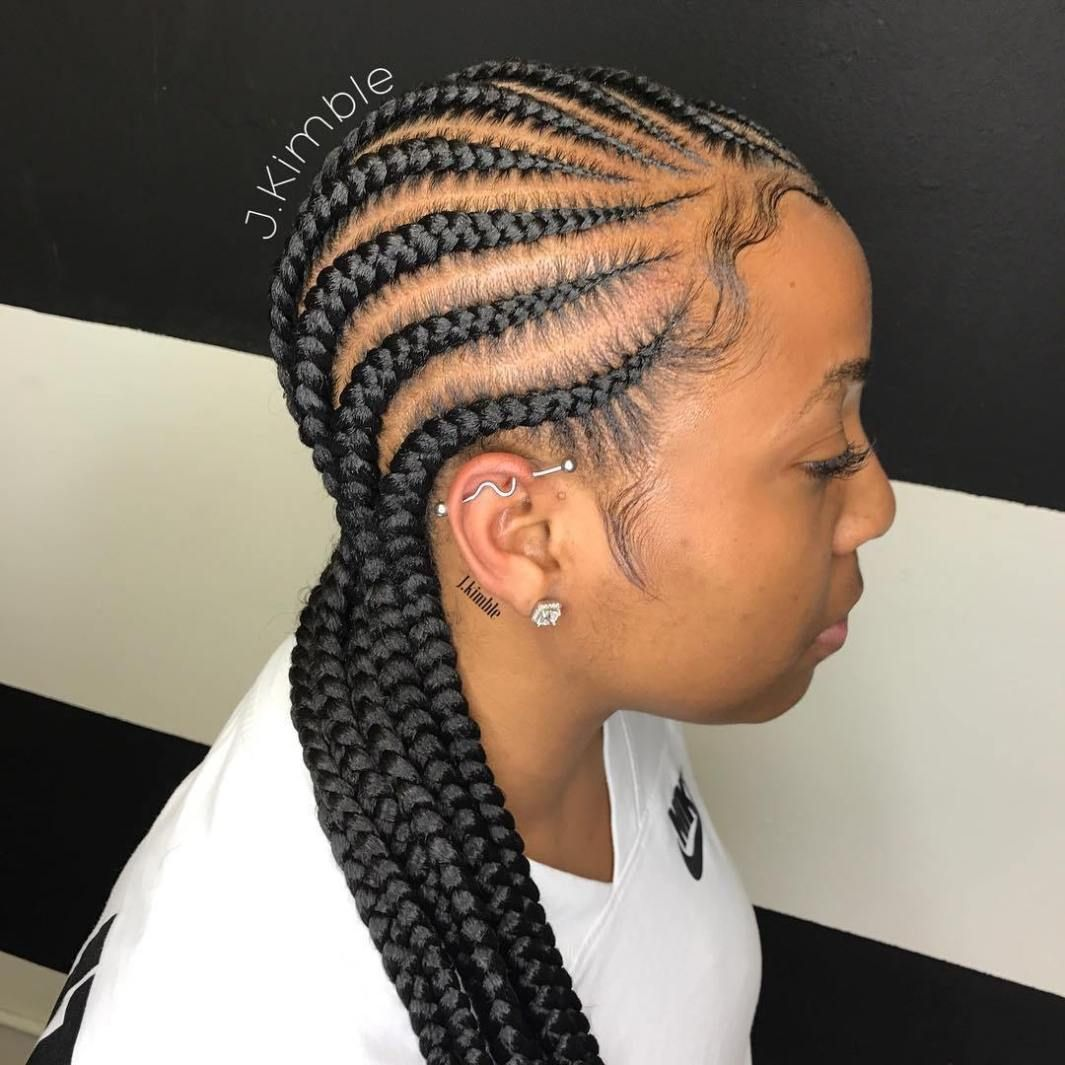 Cornrow Braid Hairstyle To The Back