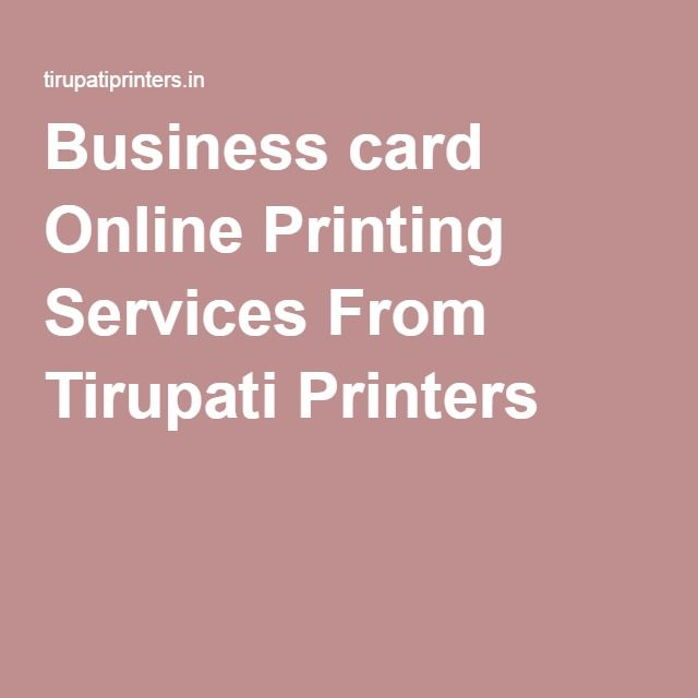 Business card online printing services from tirupati printers business card online printing services from tirupati printers colourmoves Image collections