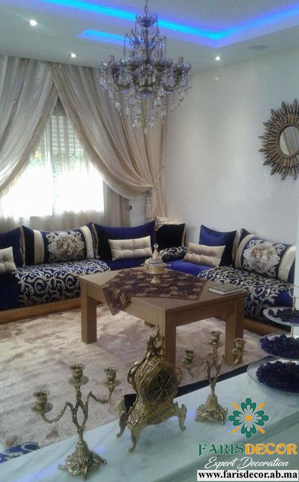 Salon Marocain Luxe Decoración Chic Arabic Decor Living