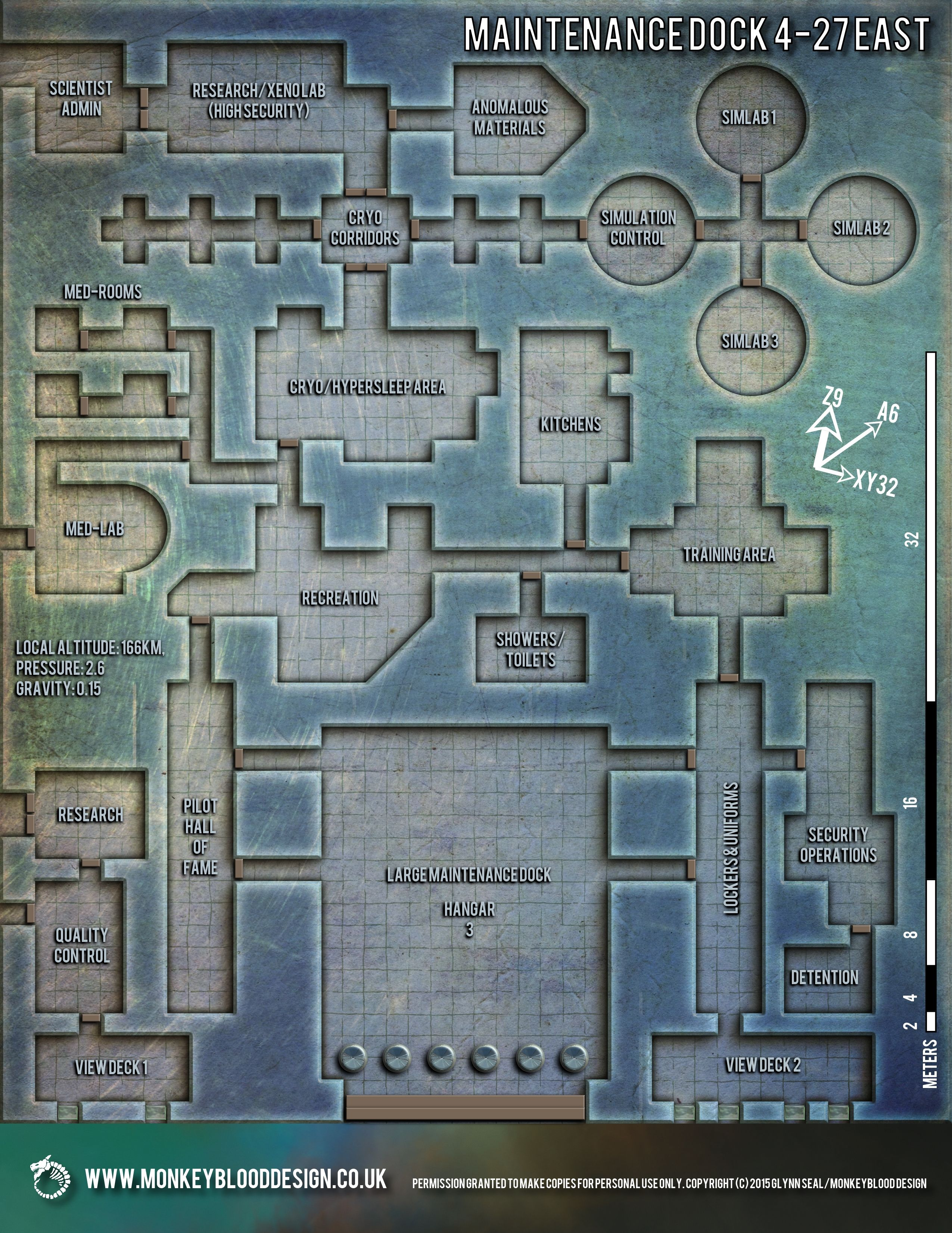 Sci Fi Layouts : Map monday maintenance dock east osr today sci
