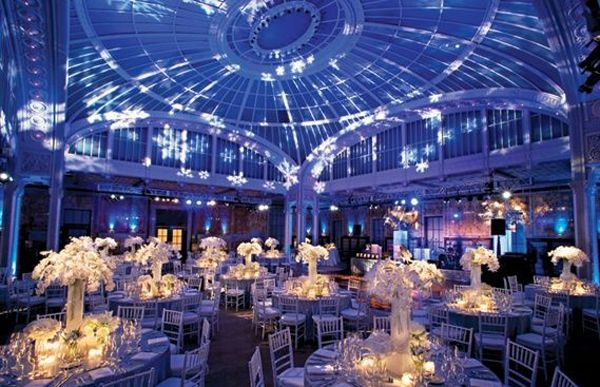 Wedding Reception Lighting Like The Tables Not So Much Snowflake Shapes