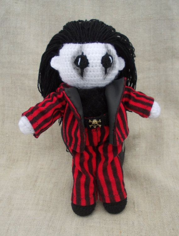 Alice Cooper Crochet Doll Horror Doll Portrait Doll Gothic doll ...