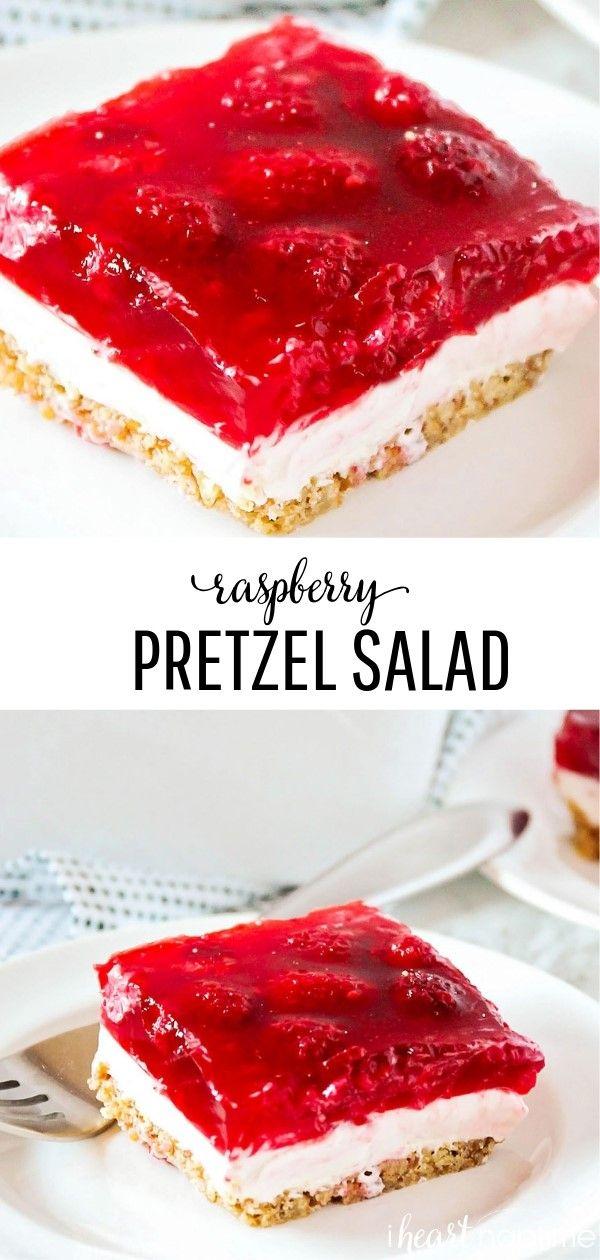 The Best Raspberry Jello Pretzel Salad I Heart Naptime Recipe Raspberry Pretzel Salad Raspberry Recipes Pretzel Salad