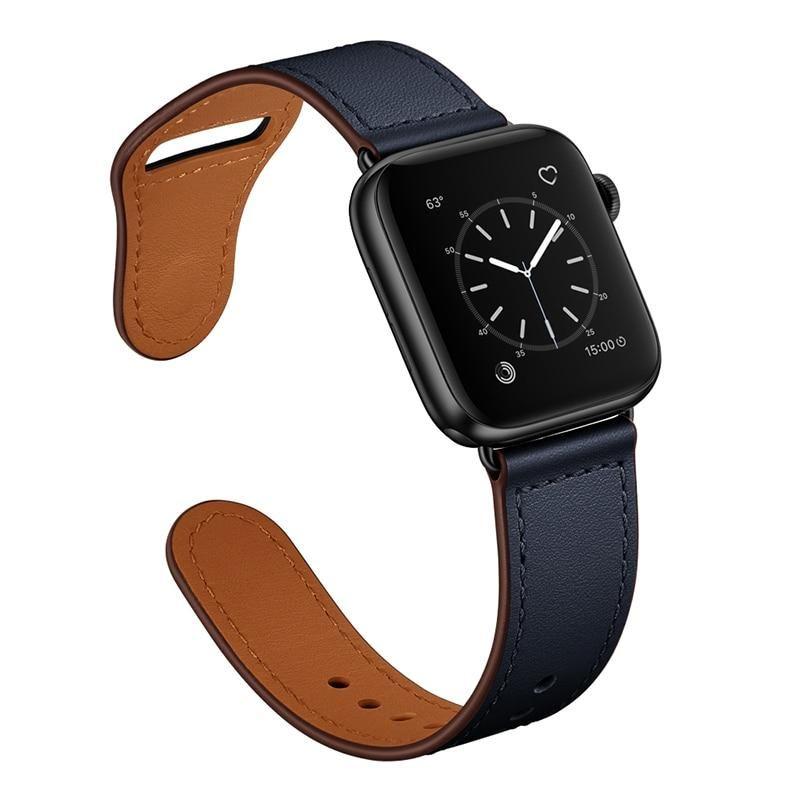 Photo of Echtlederarmband für Apple Watch – Midnight Blue 1 / 38mm oder 40mm