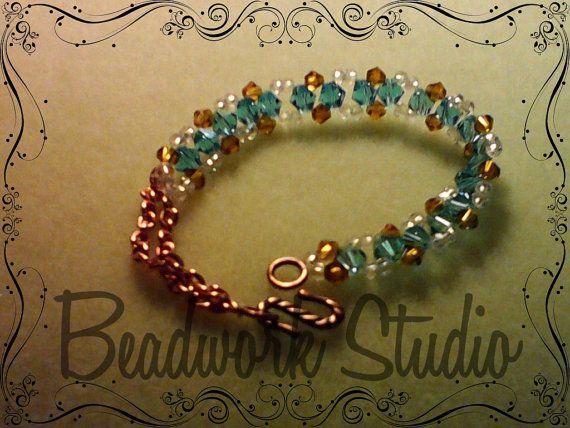 Crystal Dream Bracelet by BeadworkStudioDesign on Etsy