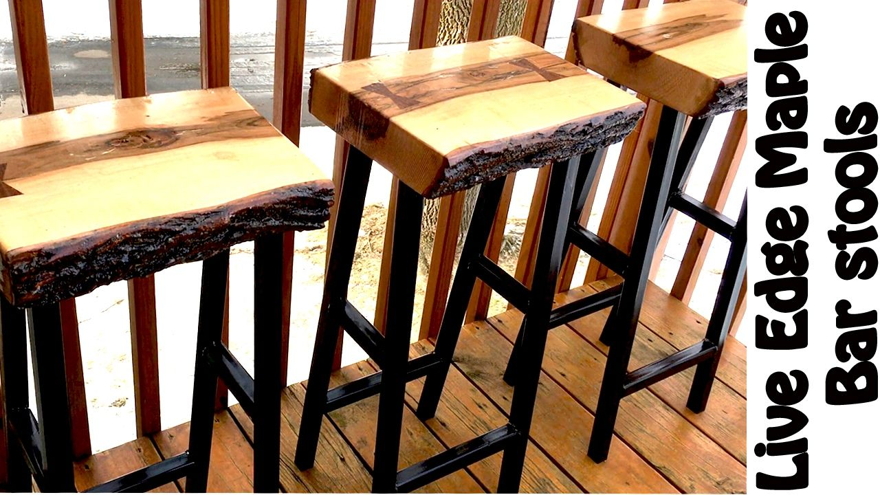 Making Live Edge Maple Bar Stools Diy W Free Plans Diy