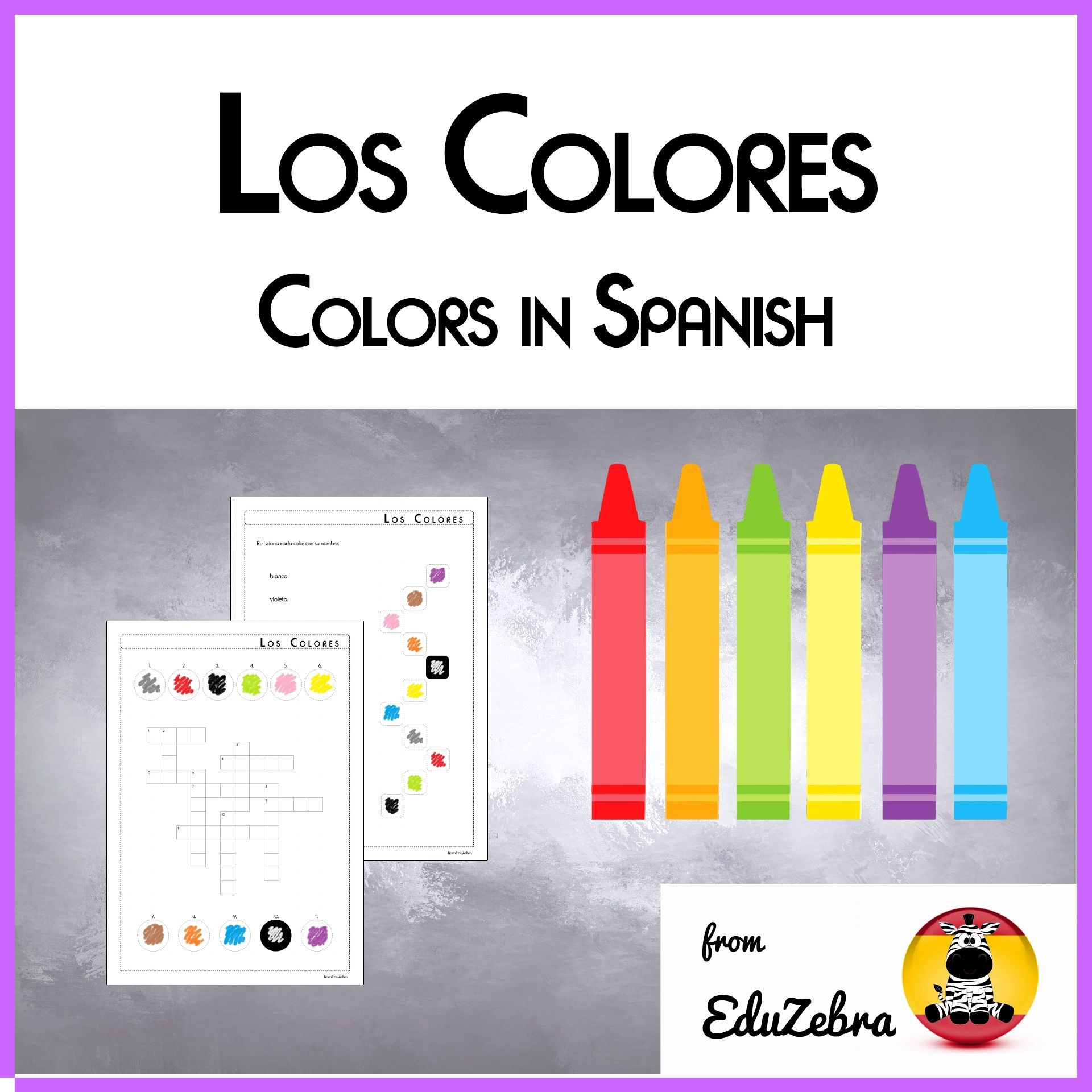 Colors In Spanish Los Colores Espanol Activities Worksheets Bilingual Teaching Tracing Worksheets Free Learning Colors [ 1920 x 1920 Pixel ]