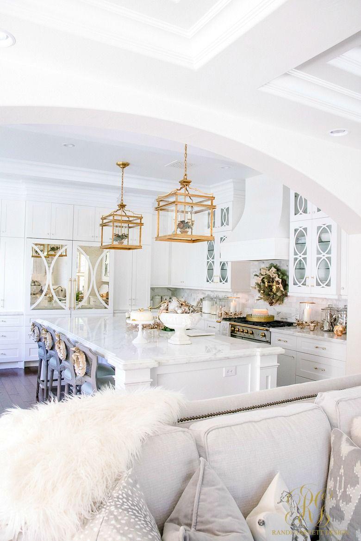 Christmas Home Tour 2017 Silver And Gold Christmas Randi Garrett Design White Home Decor Home Home Decor