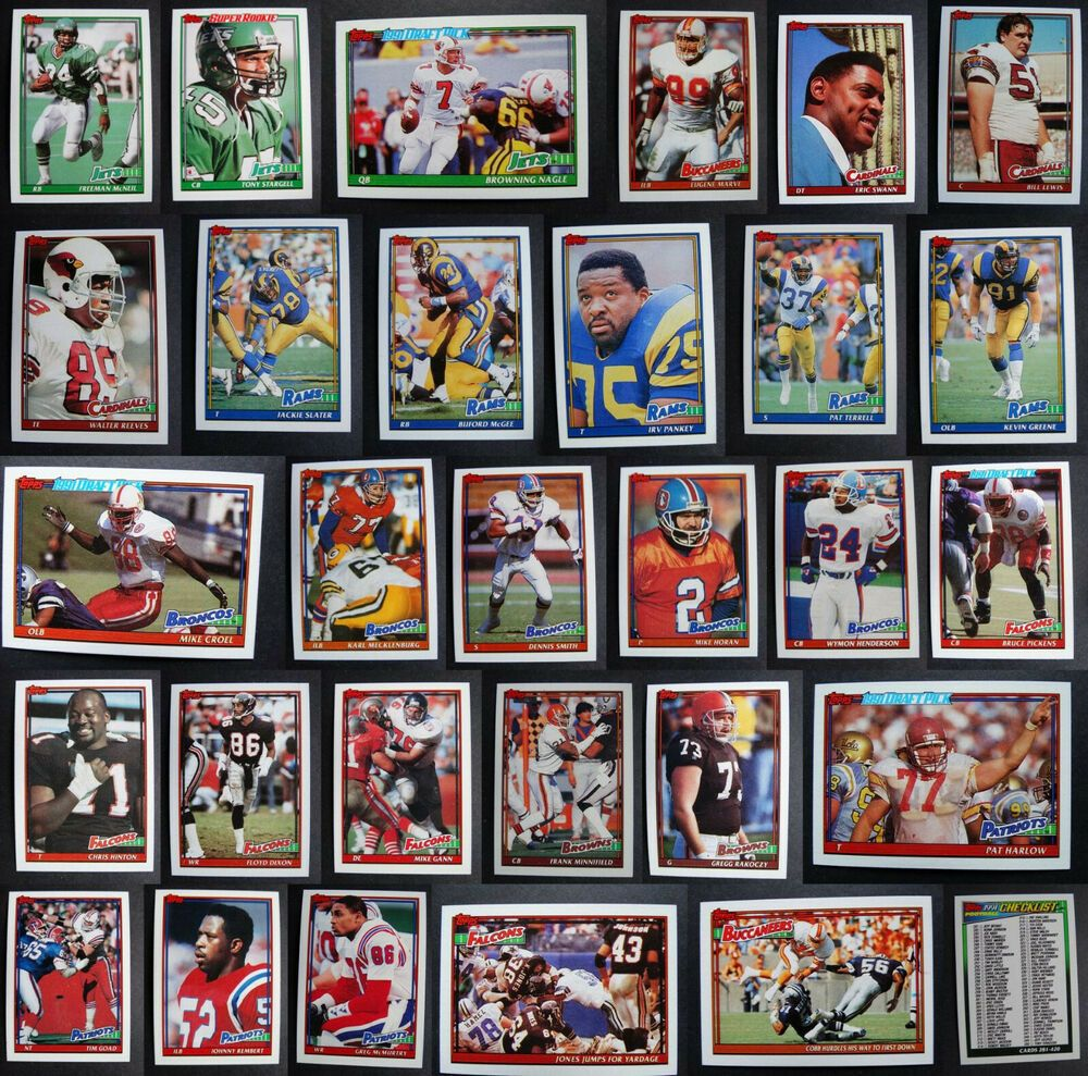 1991 topps football cards complete your set you u pick