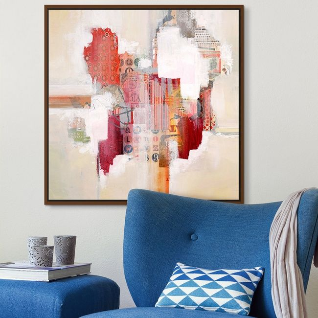 Mixed media abstract wall decor  art time to explore lll by also rh pinterest