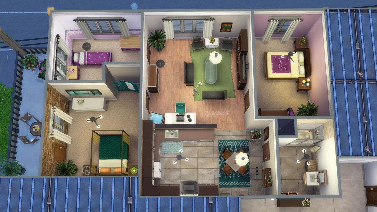 Sims 4 City Living Apartments Google Search Sims House Sims House Design Sims 4 City Living