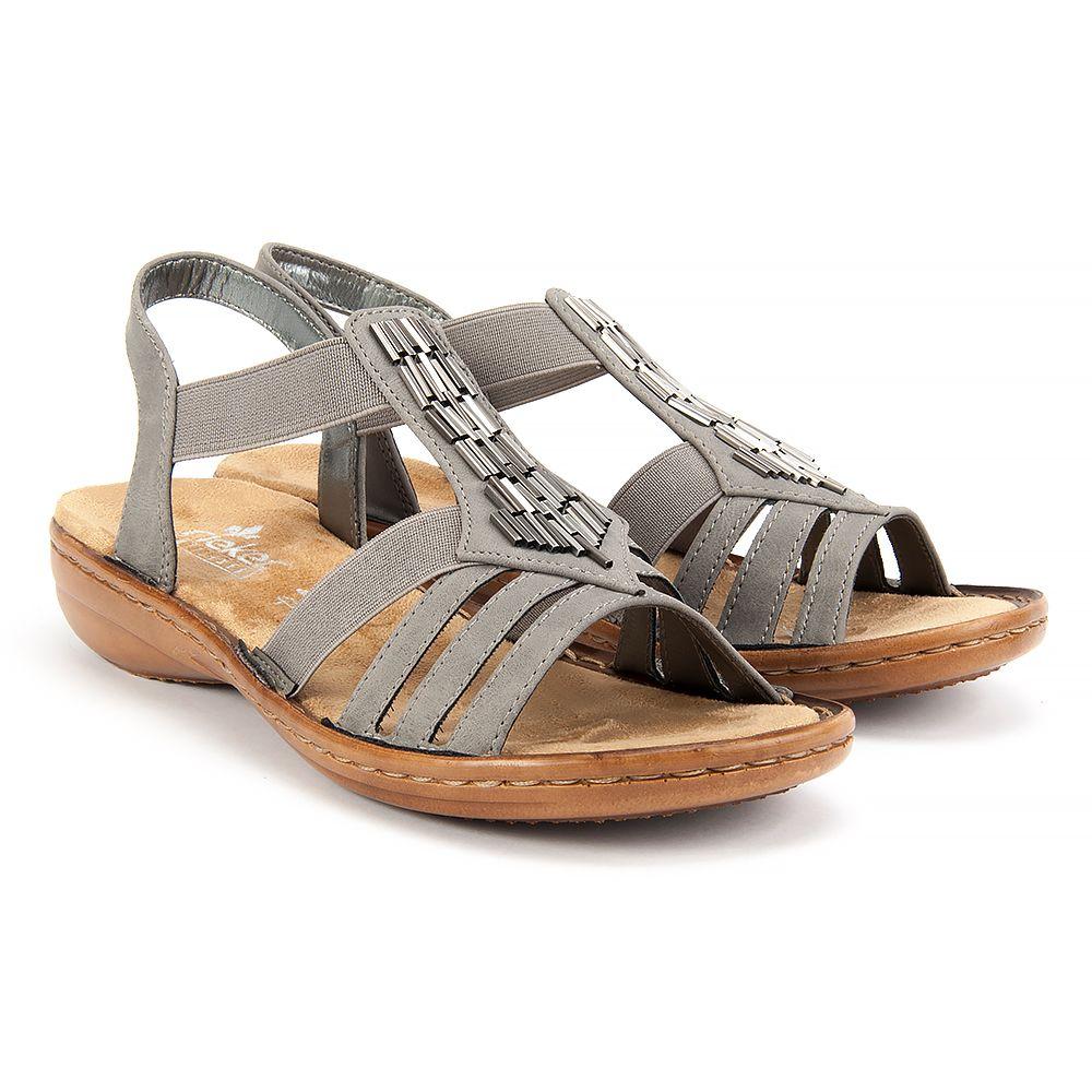 Sandaly Rieker 60800 42 Grey Sandaly Na Koturnie Sandaly Buty Damskie Filippo Pl Shoes Sandals Rieker
