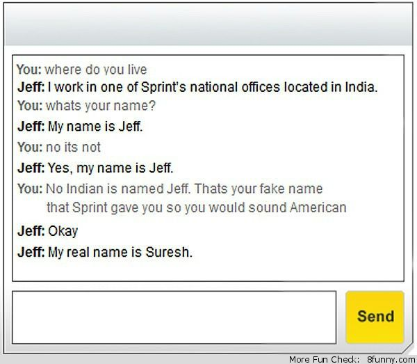 sprint customer service indian name sound american Funny Pictures - sprint customer care