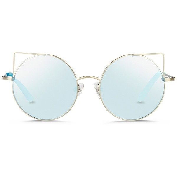 ae3318d3e0 Matthew Williamson  Playful  wire cat ear round mirror sunglasses ( 325) ❤  liked