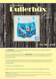 Unterhose, Boxershort, Badehose, Short - vielseitiges SM - 86-152 - Freebook Pullerbüx - Lynaed