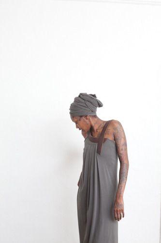 Hazel Brown — 12.1.15 dress with leather straps