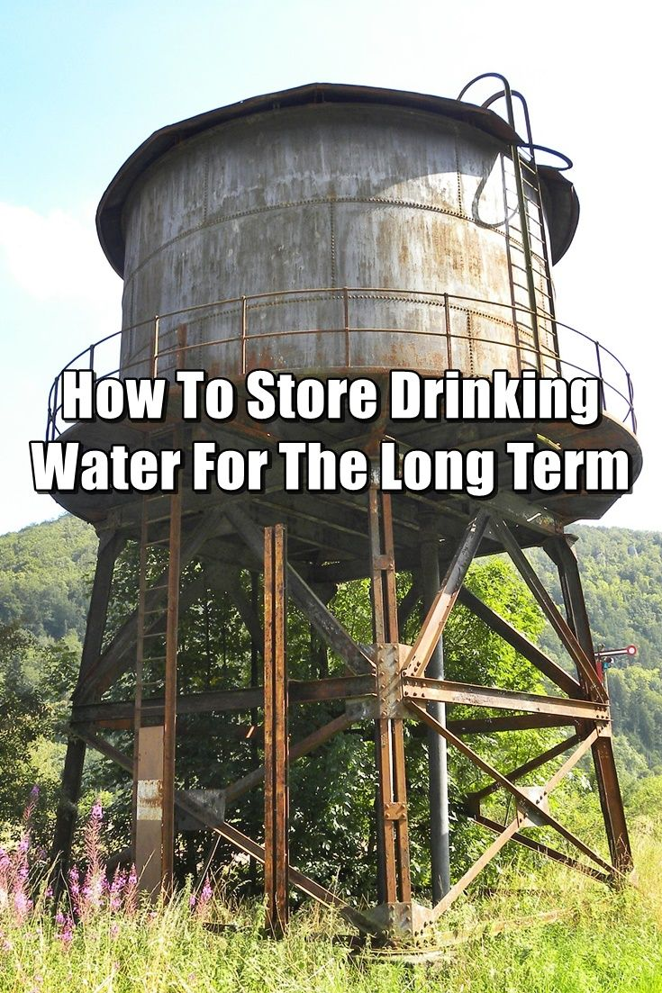 How To Store Drinking Water For The Long Term Drinking