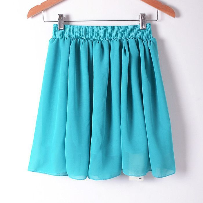 2015 New Summer Solid Empire Skirt Casual Mini Skirt Female Skirts 20 Colors