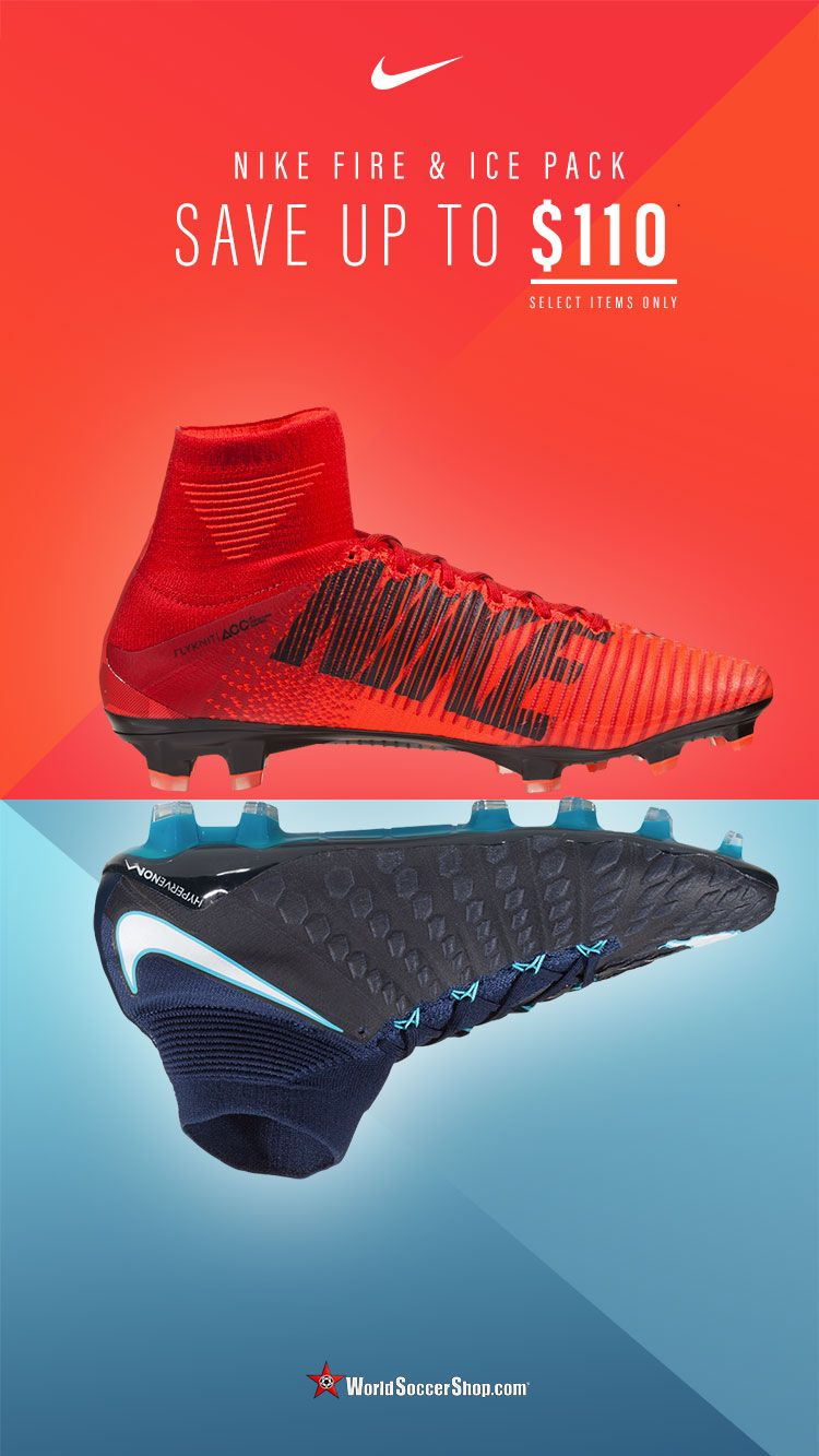 3ec971afd9fc9 Nike Fire   Ice Soccer Cleats now up to  110 off on select models.  Available now at WorldSoccerShop.com