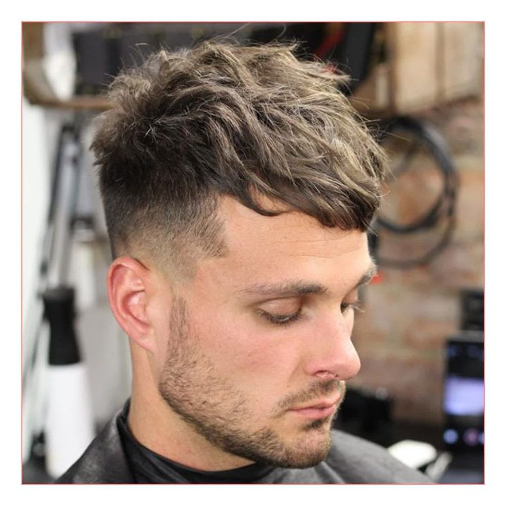 Image Result For Short On Sides Long On Top Curly Mid Fade Haircut Long Hair Styles Men Mens Haircuts Fade