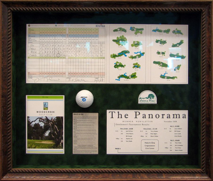 Quot Hole In One Quot Shadow Box Memorabilia Frame Hole In One