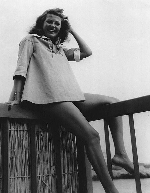 Rita Hayworth on vacation, c. 1949.