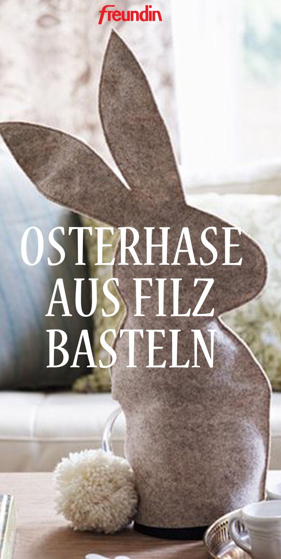Osterbasteln mit Kindern - Osterhase aus Filz –