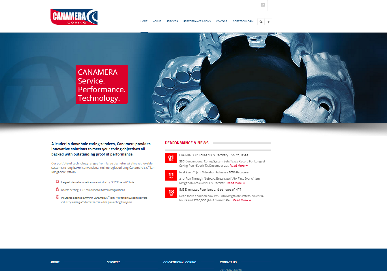 New Website For Canamera Coring In Houston Tx Webdesign Adagency Web Design Ad Agency Solutions