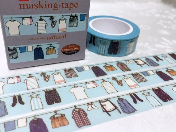 Hanging Clothes Washi Tape 10m X 1 5 Cm Do The Laundry Clothing