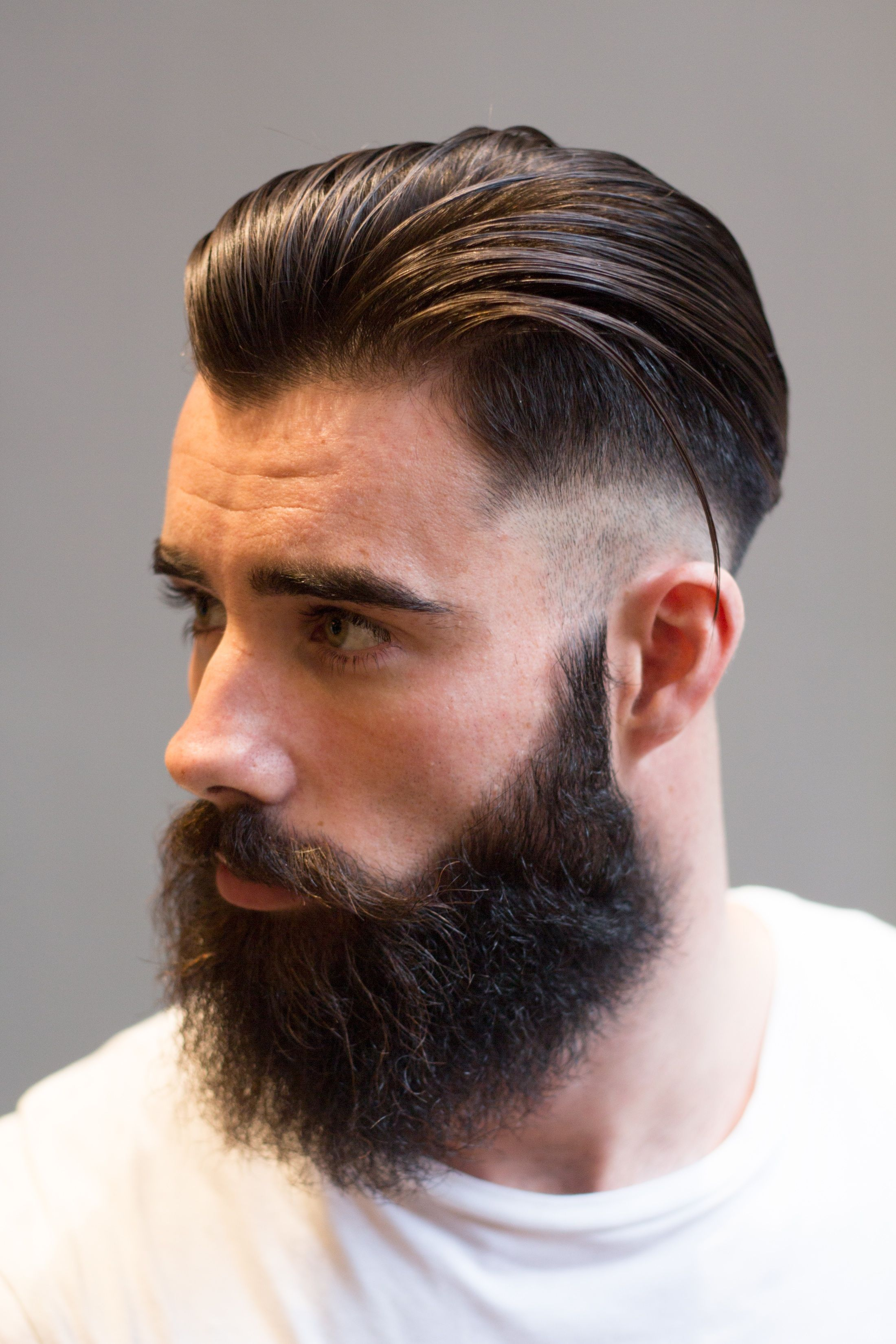 Coiffure Hipster 2018 James Fade Beard 2 Copy Coiffure Pompadour Rockabilly