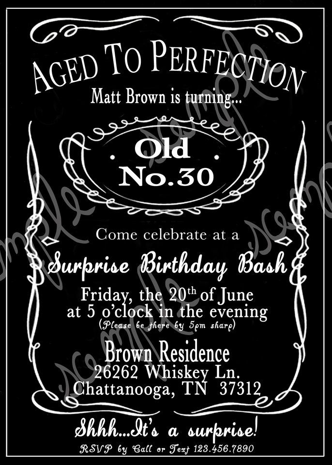 Adult Black And White Birthday Party Invitation Printable Digital File By CutesyCustomDesigns On Etsy