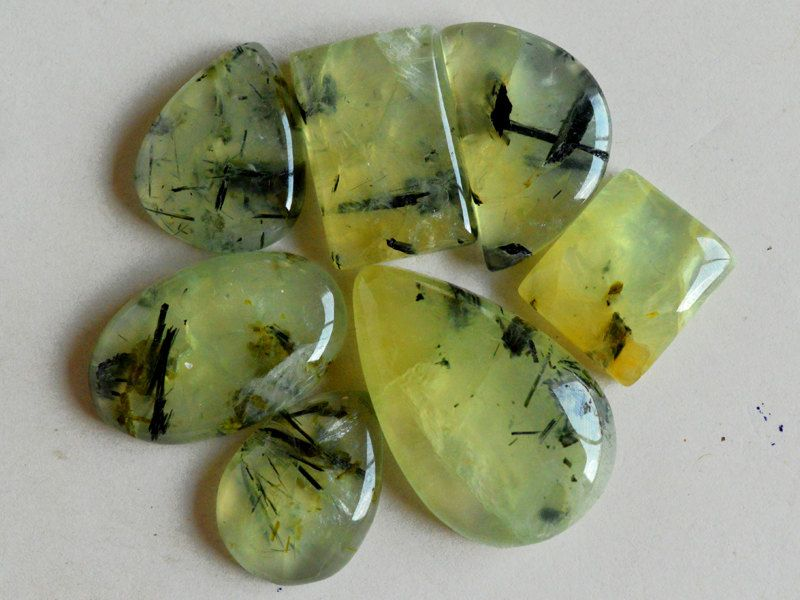 cabochon gemstone yellow oval prehnite