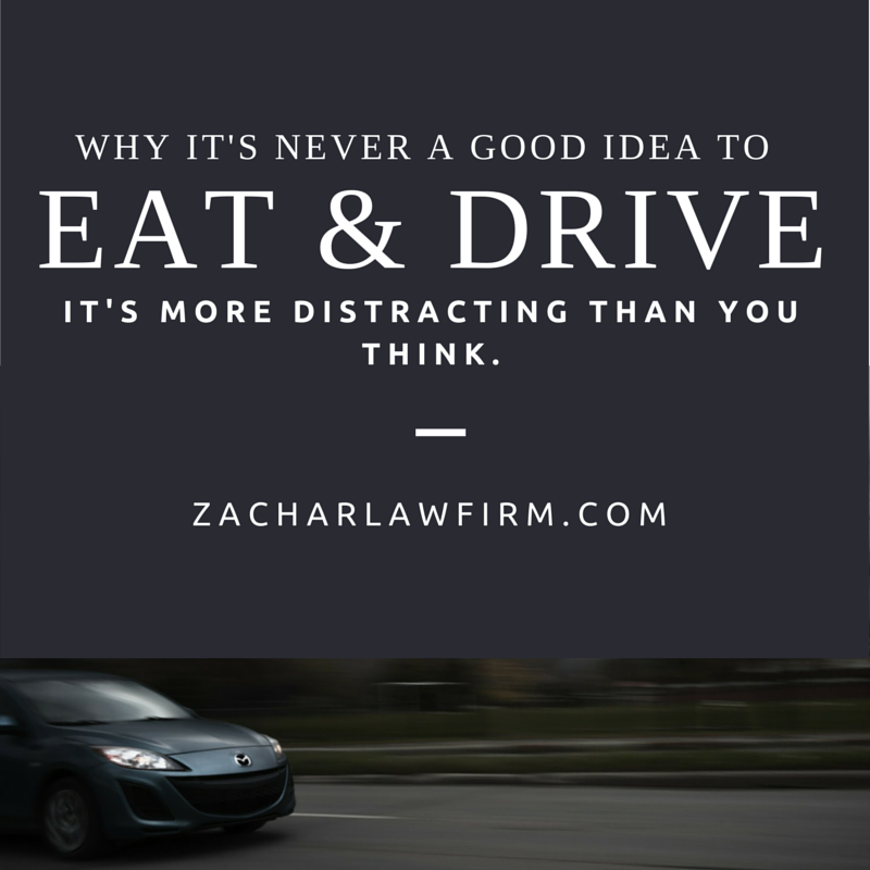 Just how dangerous is eating while driving? It's more