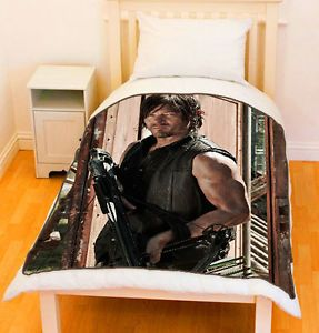 Walking Dead Throw Blankets Classy The Walking Dead Norman Reedus Daryl Dixon Fleece Throw Blanket 2018