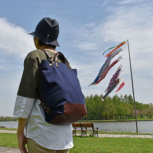 #foldable #summer #hat by #nickimarquardt and #canvas #leather #tote #ruck #twoway #bag by #stevemono