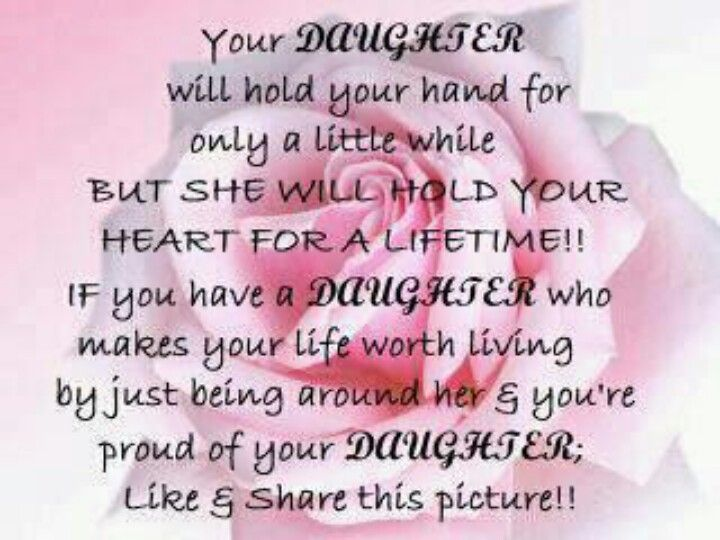 ♥I Love My Daughter♥ Kaylee chose this because she knows