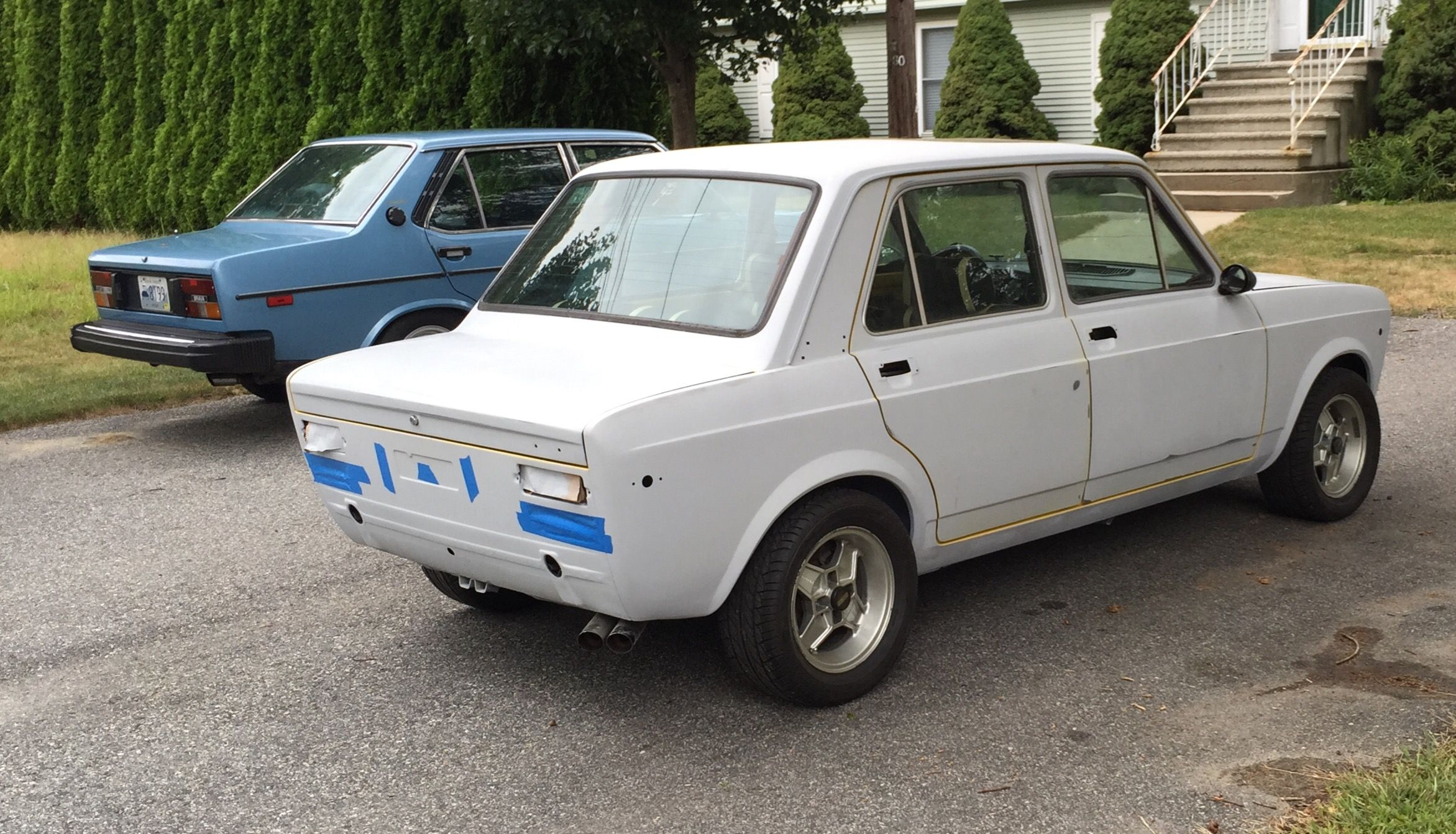 Our 1978 Fiat 128 Rally In The Restoration Phase In The Back Our
