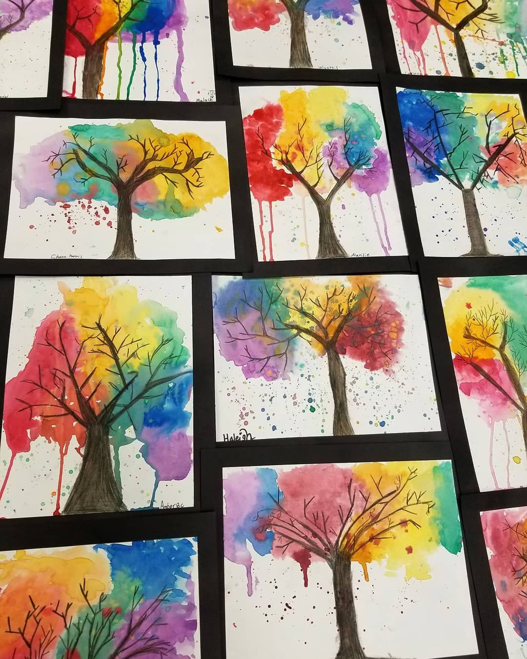 Pin By Misty Byrd On Rainbow Art Rainbow Art Watercolor Trees