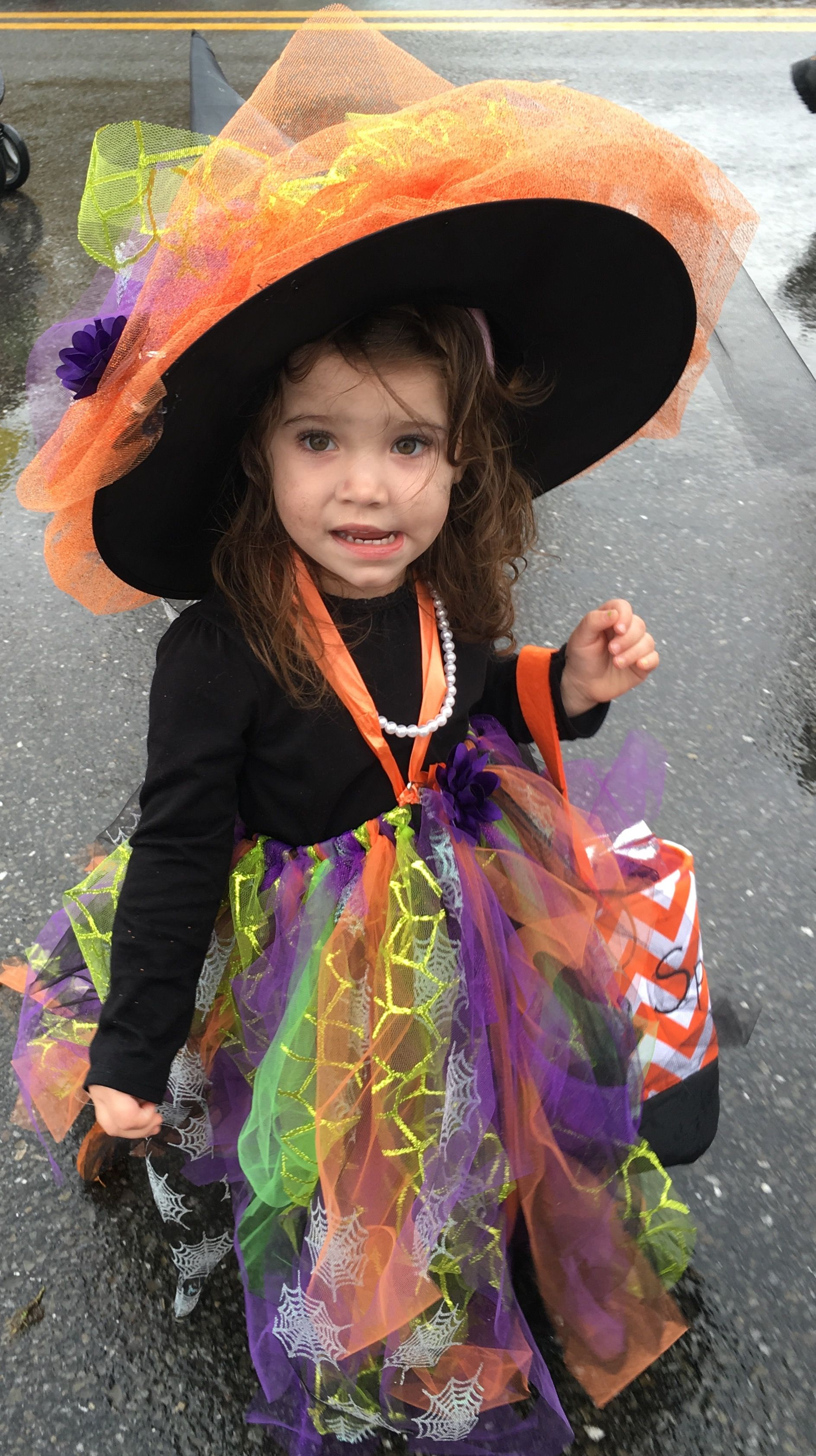 Little Girl Toddler Witch Costume Halloween | crafts, handmade and ...