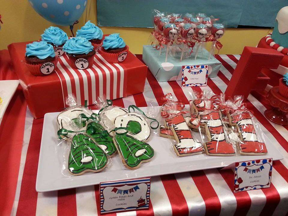 like the #1 cookies Dr Seuss Birthday Party Ideas | Photo 5 of 22 | Catch My Party