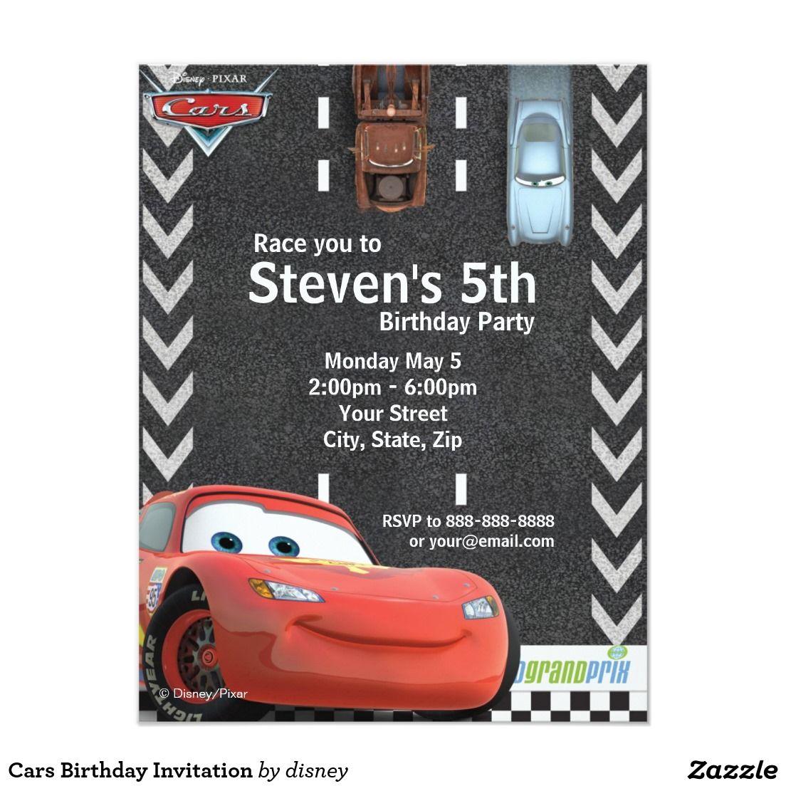 Cars Birthday Invitation   Shop the hundreds of birthday and party ...