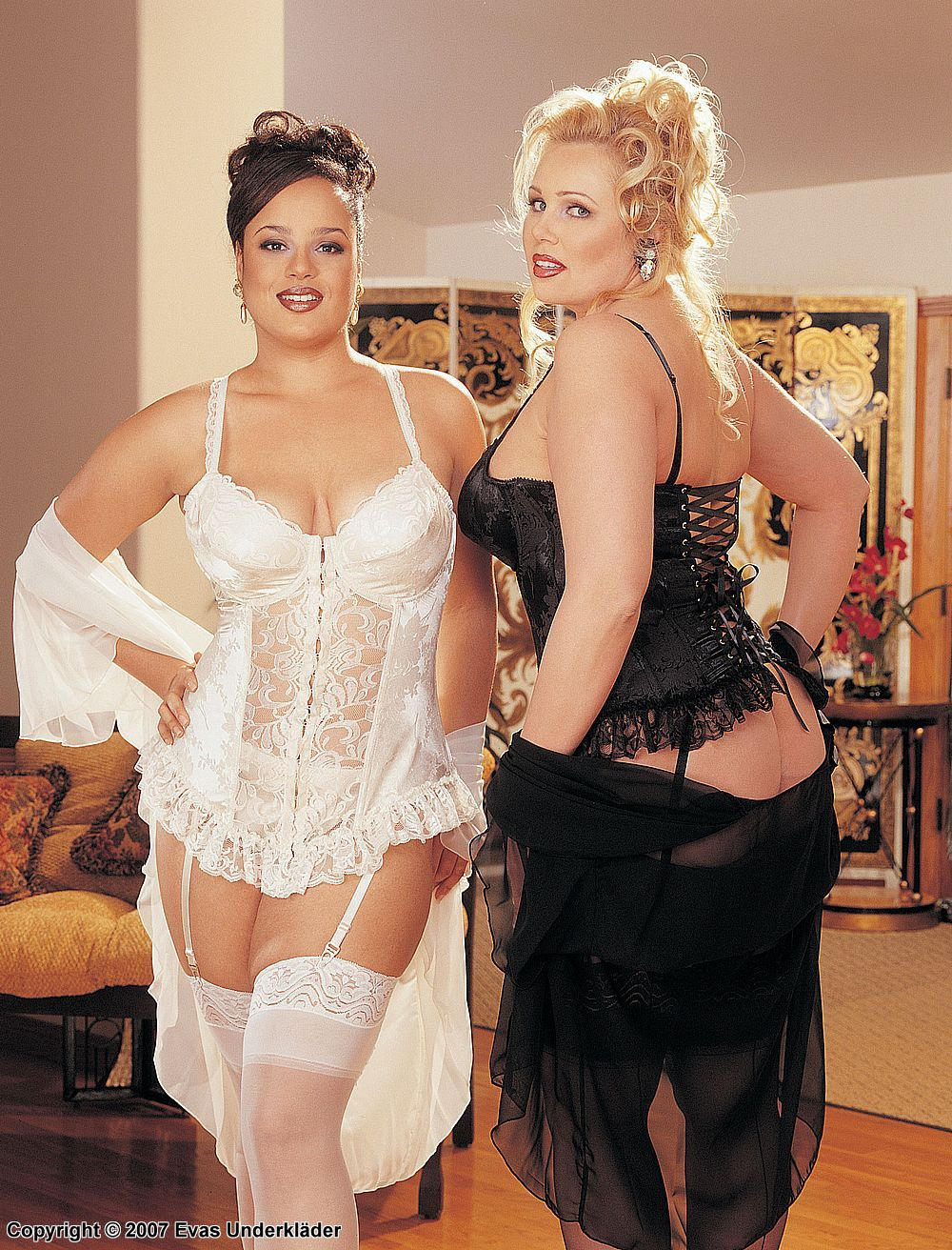 17c7d351283 Shirley of Hollywood plus size lingerie models