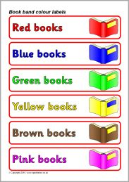 Book band colour labels/book shelf labels (SB3286) - SparkleBox