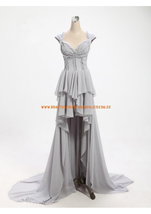 V-neck Kolumne Schönes Lange Luxuriöse Abendkleider aus Chiffon ...