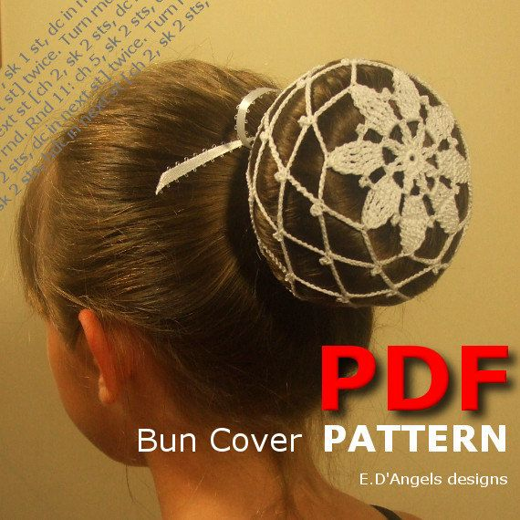 crochet bun cover pattern crochet pattern crochet ballerina bun cover haken und h keln. Black Bedroom Furniture Sets. Home Design Ideas
