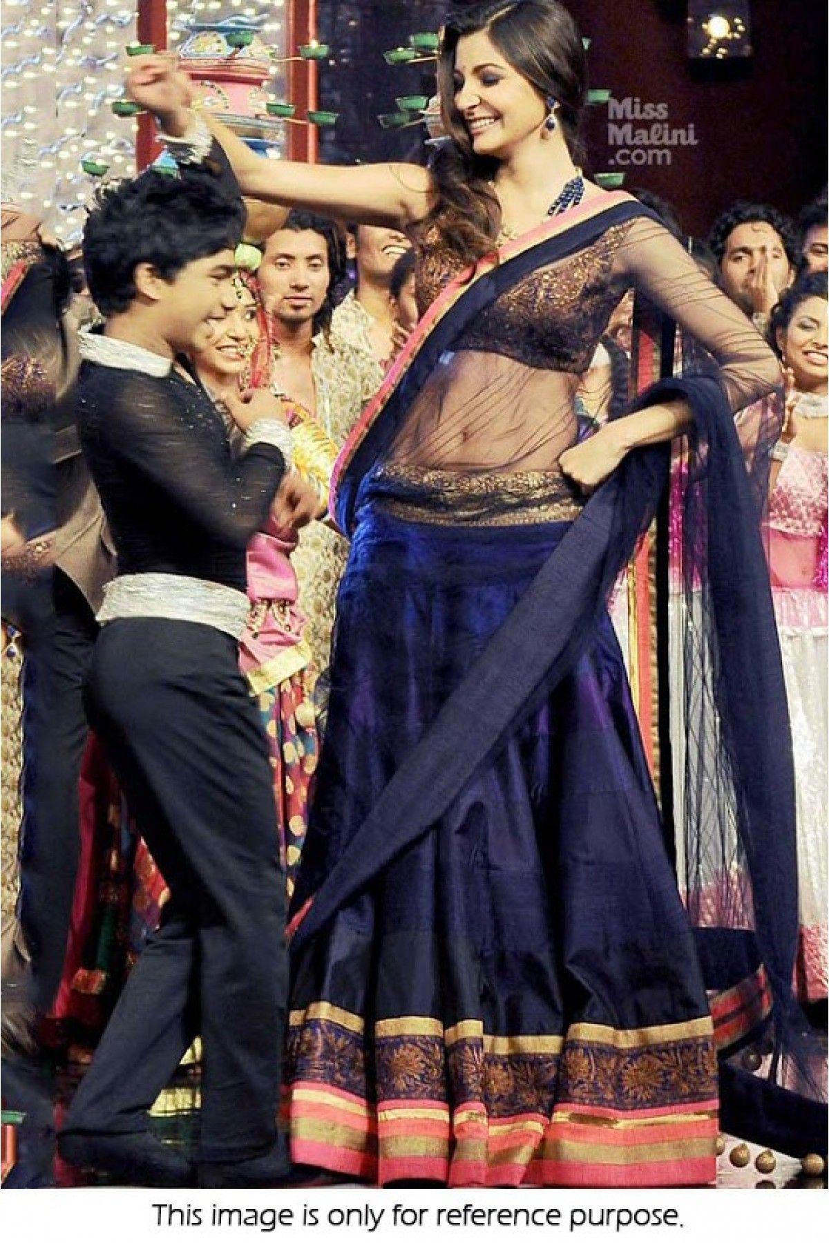 Bollywood Style Anushka Sharma Net and Art Silk Lehenga In ...